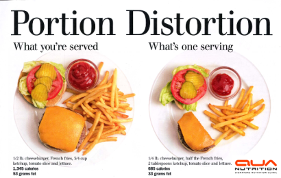 portion control with logo