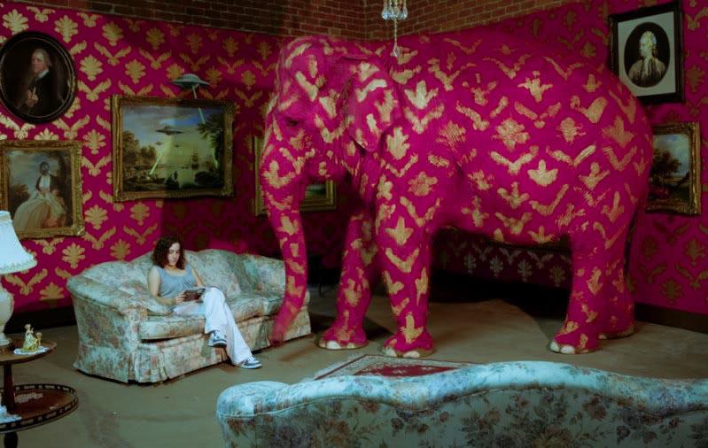 banksy pink elephant