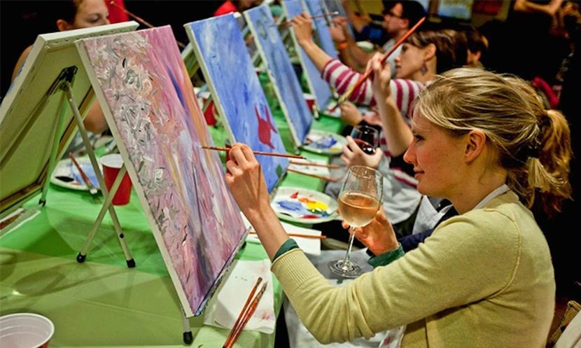 adult-art-classes-ladies-art-parties-girlie-painting-parties-PARSLEY-PIE-ART-CLIUB-