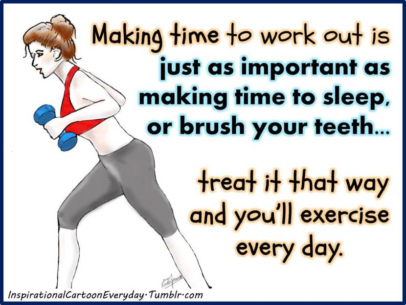 Make time to work out_
